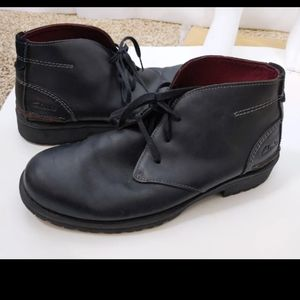 Clarks Black Leather Chukka Boots Sz 11